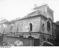 Das ausgebrannte Gebäude der Ohel-Jakob-Synagoge in München