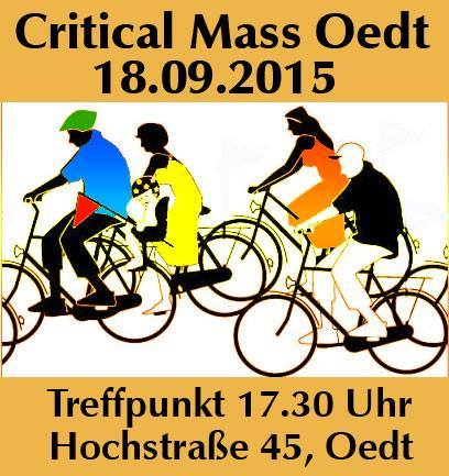 Critical Mass Oedt 18.09.2015